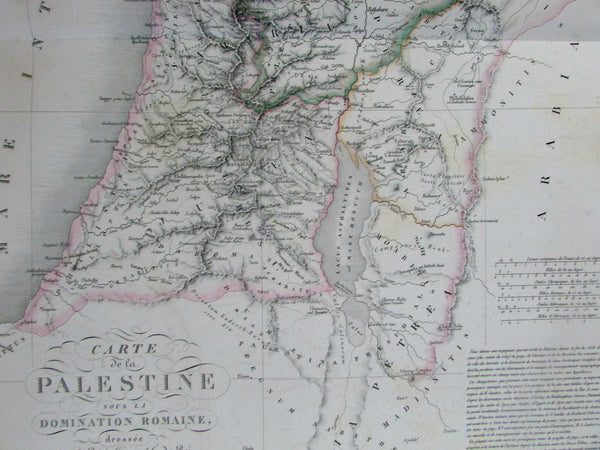 Holy Land Palestine Israel during Roman era 1828 Brue fine large folio old map
