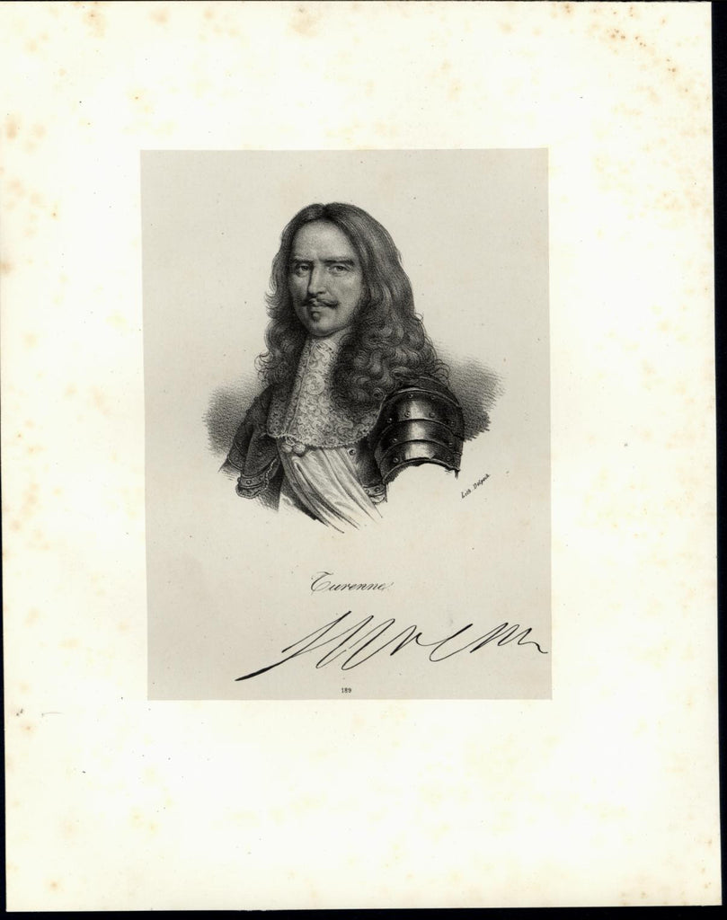 Turenne 1864 scarce antique portrait print