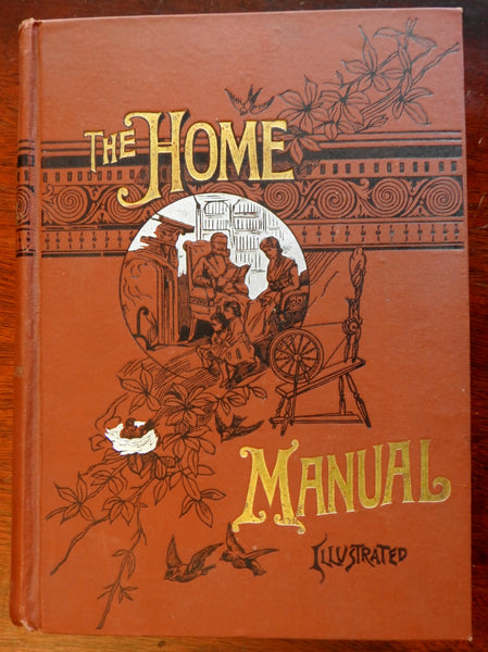 Home Manual Etiquette Social conduct Society Women 1889 monumental book