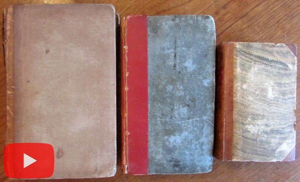 Lord Byron 1812-1830 Journal Life Pilgrimage 3 early books lot scarce