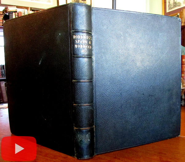 Spain Morocco travel book 1835-8 Jennings 53 view engravings leather binding
