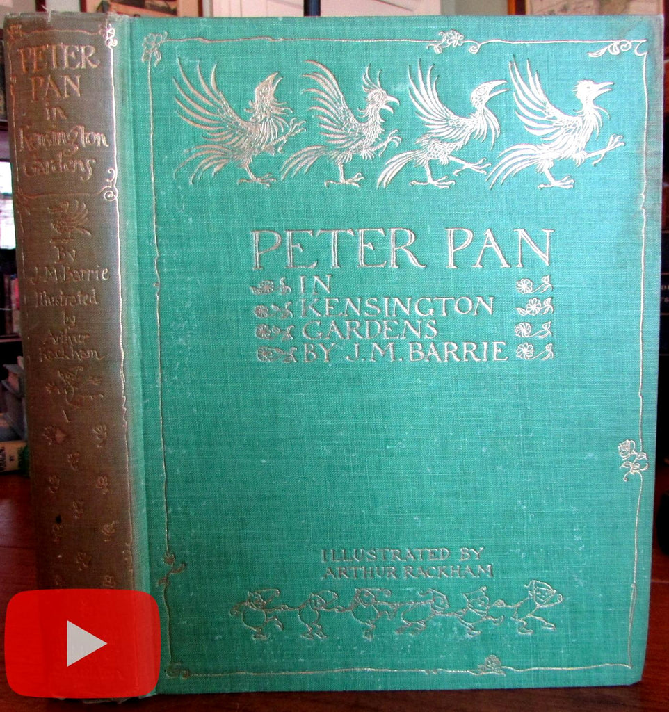 Arthur Rackham 1912 Peter Pan 50 tipped in color plates lovely book