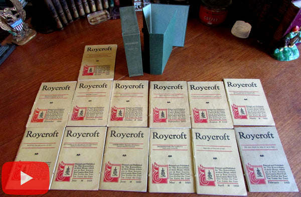 Roycroft Arts & Crafts Magazine 1922-1923 run 13 issues boxed Elbert Hubbard