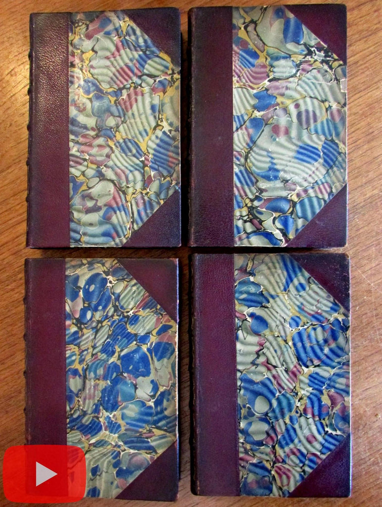 Robert Louis Stevenson 1905 leather books lot x 4 gilt Arabian Nights Dynamiter