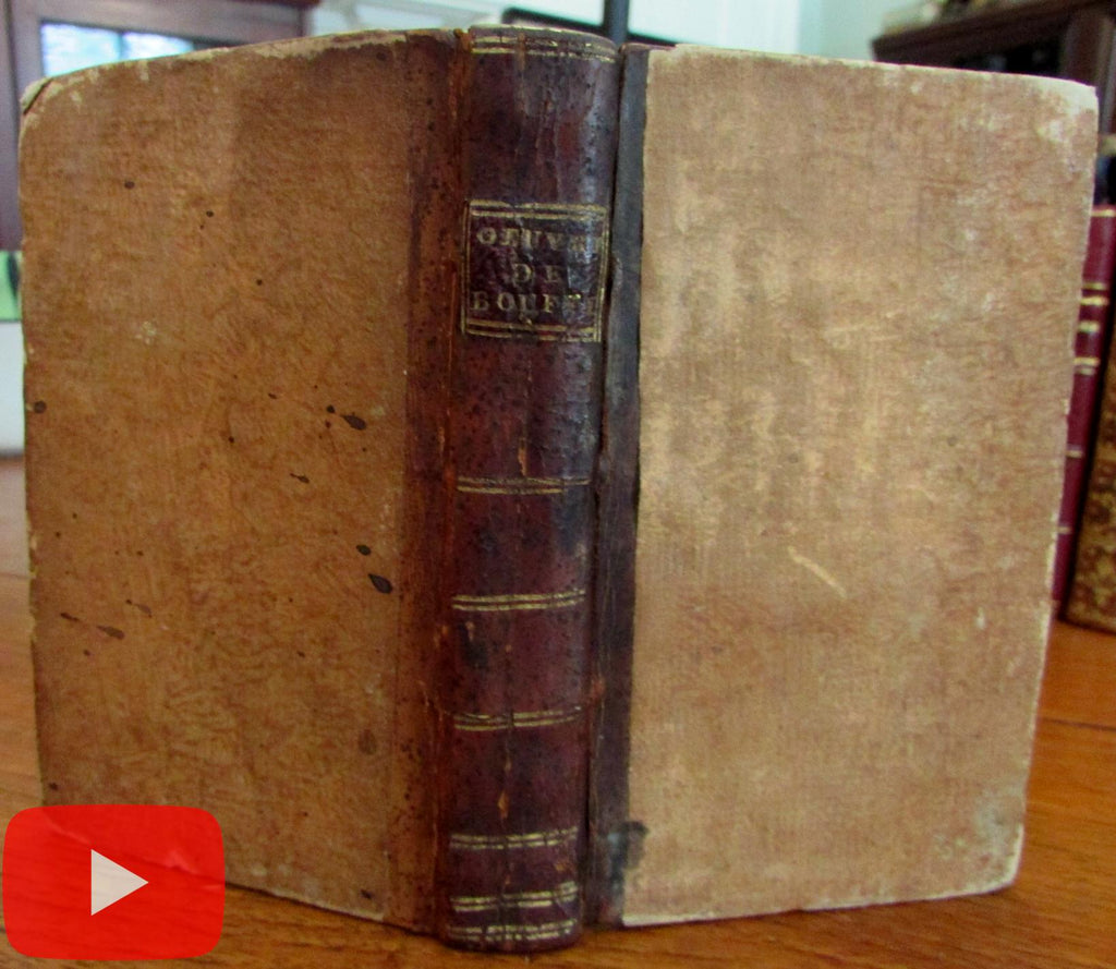 18th century book 1781-3 Ovid Chevalier de Boufflers 2 works bound together