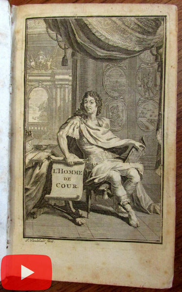 Philosophy Baltasar Gracian 1716 beautiful leather book Worldly Wisdom maxims