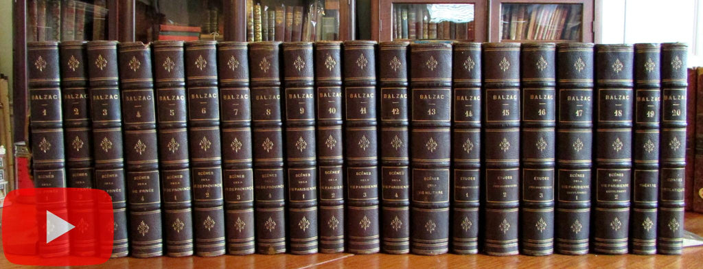 Balzac Works complete 1855 Leather set 20 vols Illustrated 100+ plates lovely