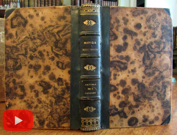 French binding 1826 Riccoboni leather book charming miniature pocket