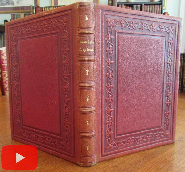 Illustrated Forest Hymn Bryant 1860 Nums art decorative leather binding beautiful