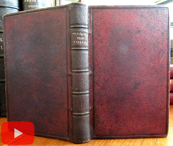 Fore-edge painting English Tudor architecture 1853 leather book Fenelon