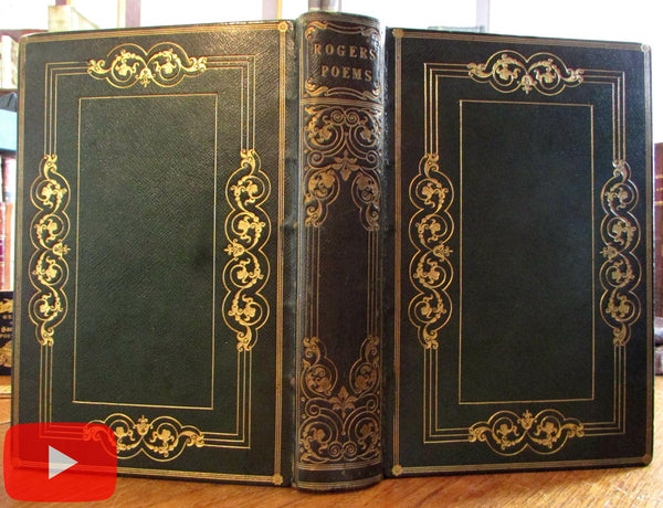 Turner engraved plate book 1834 Italy Poems Rogers Sothard gilt leather binding