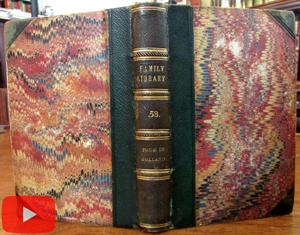 Holland Tour Netherlands Nederland 1831 illustrated leather book Murray 10 views map