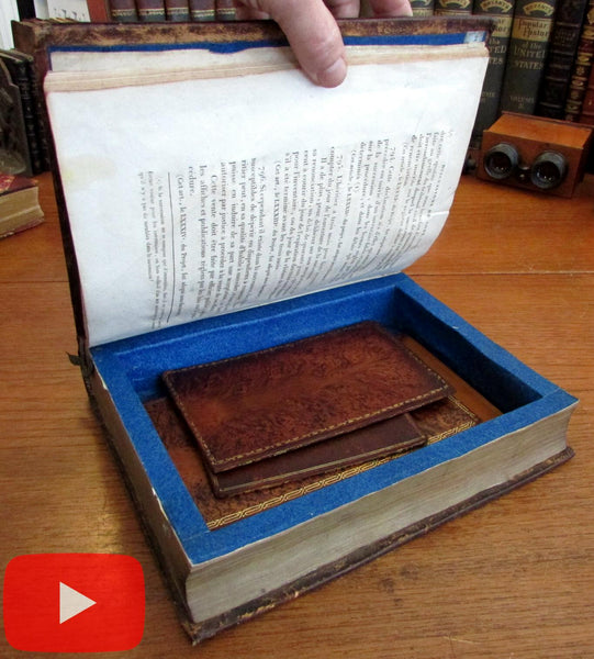 Secret book box compartment 1805 beautiful gilt ornamented rare