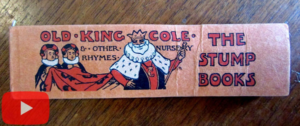 Old King Cole & Nursery Rhymes c.1904 Stump book miniature M. Tourtel illus.
