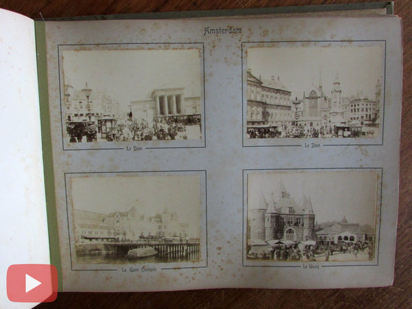 Holland Netherlands c.1860-80 Tourist photo souvenir book 40 albumens scarce