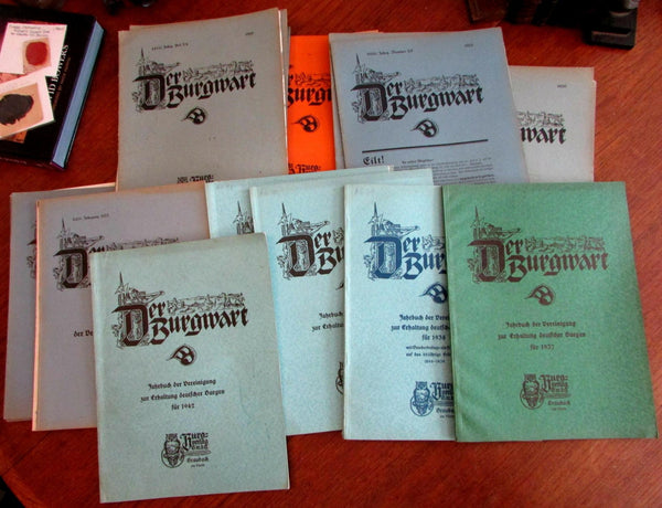 Architecture Germany 1919-1942 der Burgwart magazine lot x 32 issues w/ photos