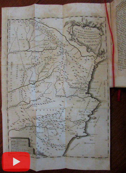 Spain Murcia Province region 1859 rare maps folding book Espana Sagrada