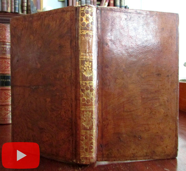 French Art of Poetry 1800 by Legeay beautiful leather book gilt spine poetique