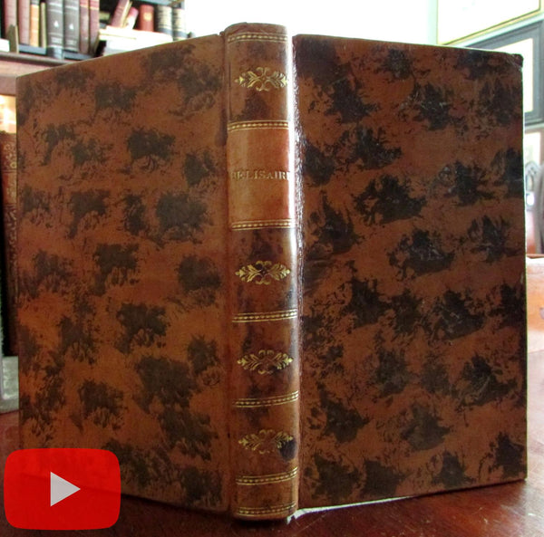 Belisaire Marmontel French Academy rare book 1769 gilt leather lovely