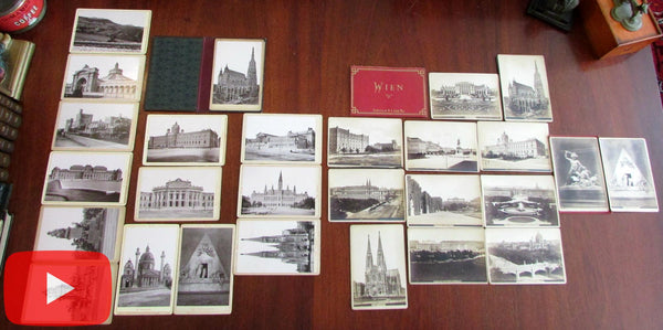 Vienna Austria Wien 27 original photos c.1870-80's Tourist view books x 2