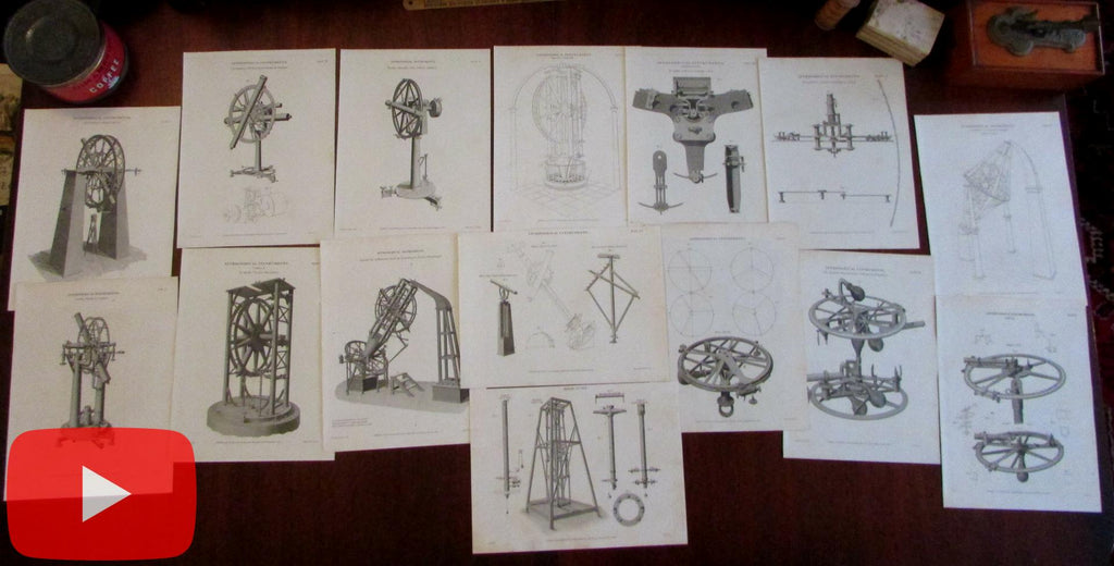 Astronomy Astronomical Instruments 1811-20 Lot of 15 Lowry antique prints