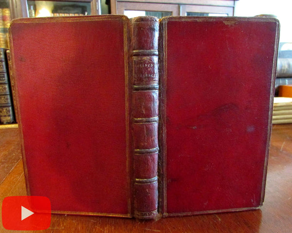 Joseph Addison 1851 Christian Religion leather book Free Thinkers discourses
