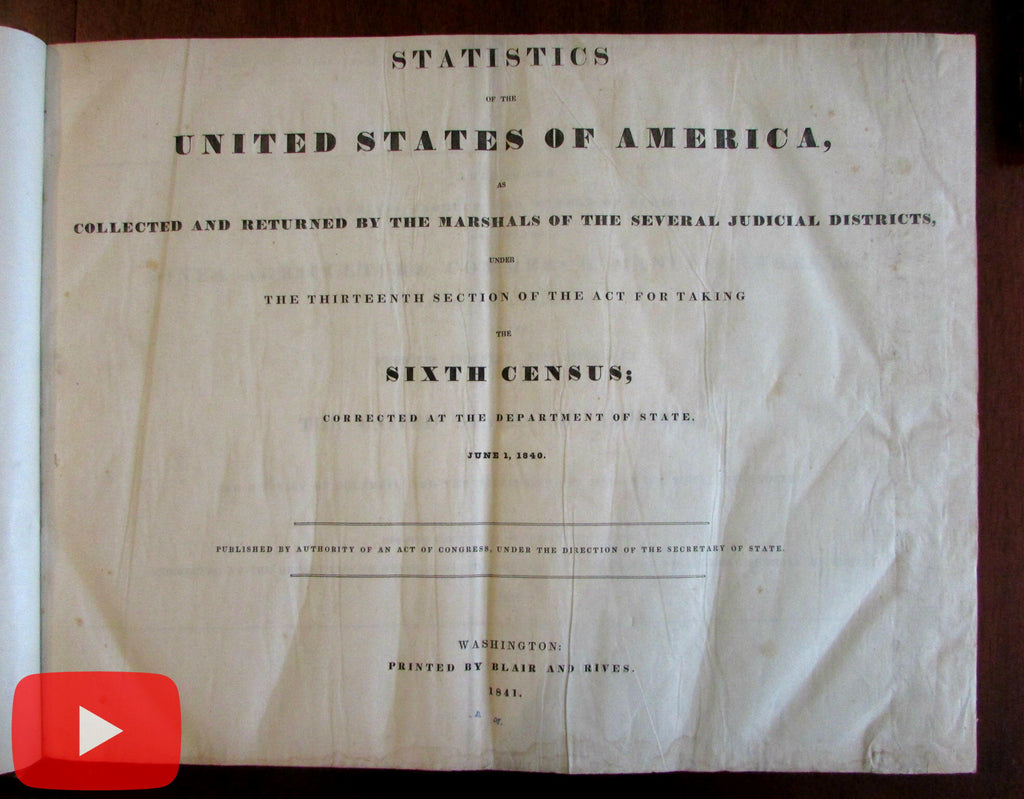 American Industry Commerce Whales Candles 1840 U.S. Gov. Manufacturing book