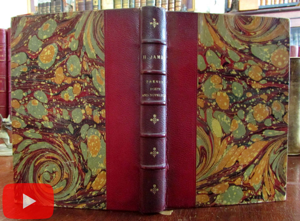 Henry James 1883 French Poets and Novelists red leather book Tauchnitz
