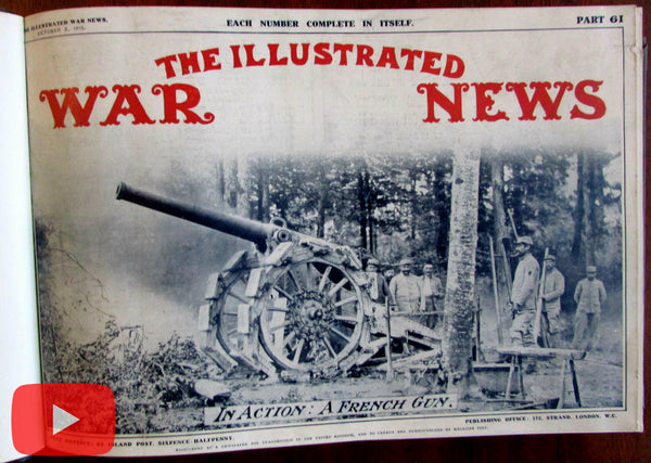 World War I Illustrated London News 12 Issues 1915-16 book military reporting