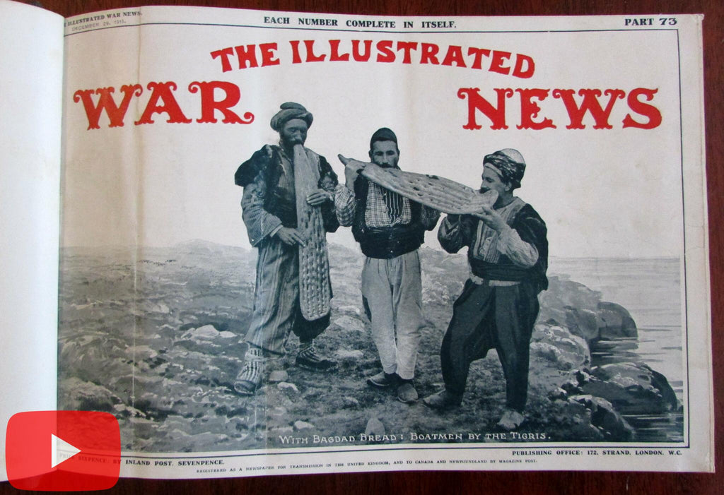 World War I Illustrated London News 1915-16 military reporting 12 issues