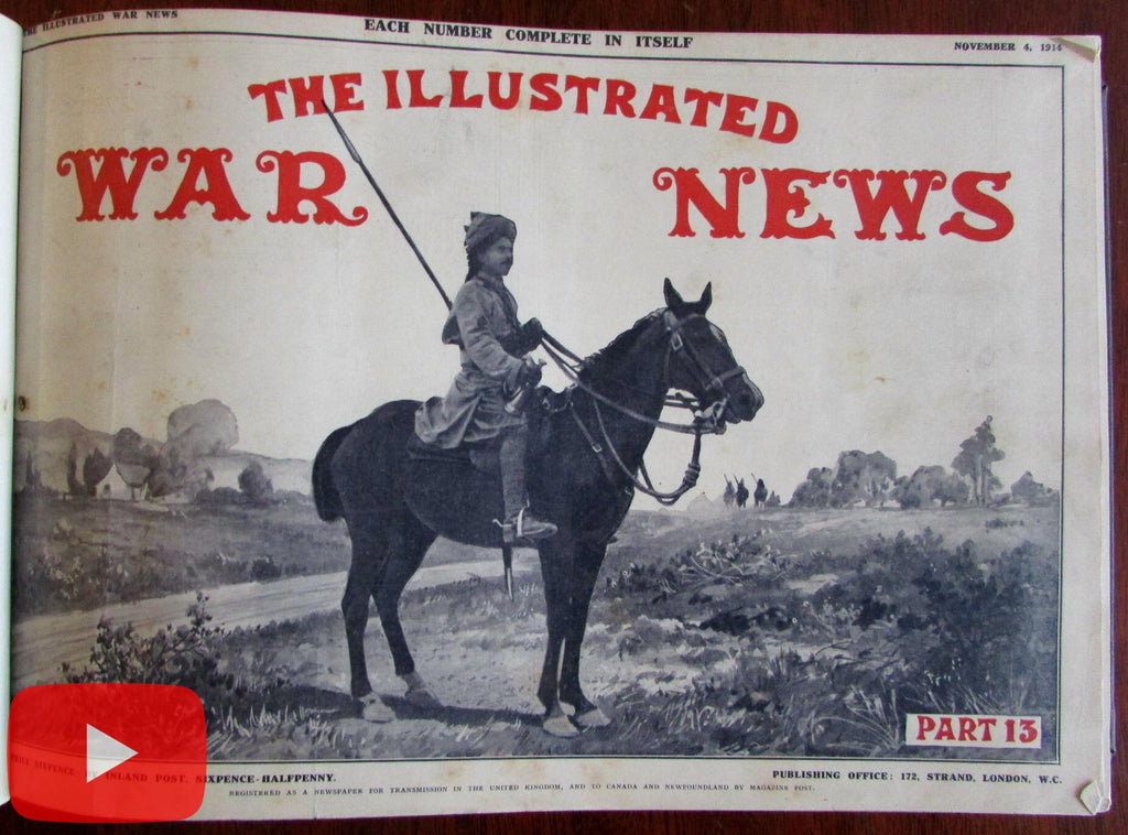 World War I Illustrated London News 1914-15 military reporting 12 issues
