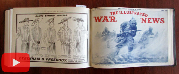 World War I Illustrated London News 12 Issues 1915 pictorial military reporting