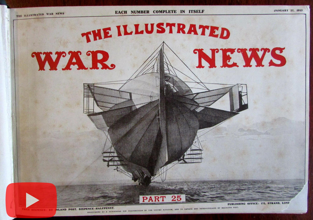 World War I Illustrated 1915 London News 12 Issues huge book military reporting