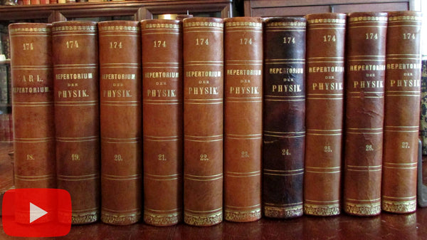Physics 19th century Germany Repertorium der Physik 10 vol leather Exner