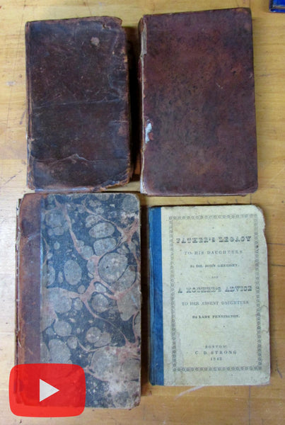 Women's Studies early 19th century America 4 scarce books Mother's Advice Morality