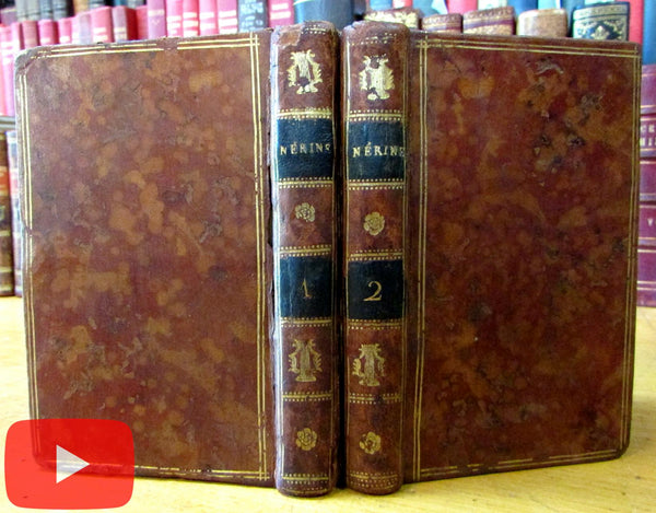 Nerine Marriage Erotica c.1770 France charming small 2 vol leather set books