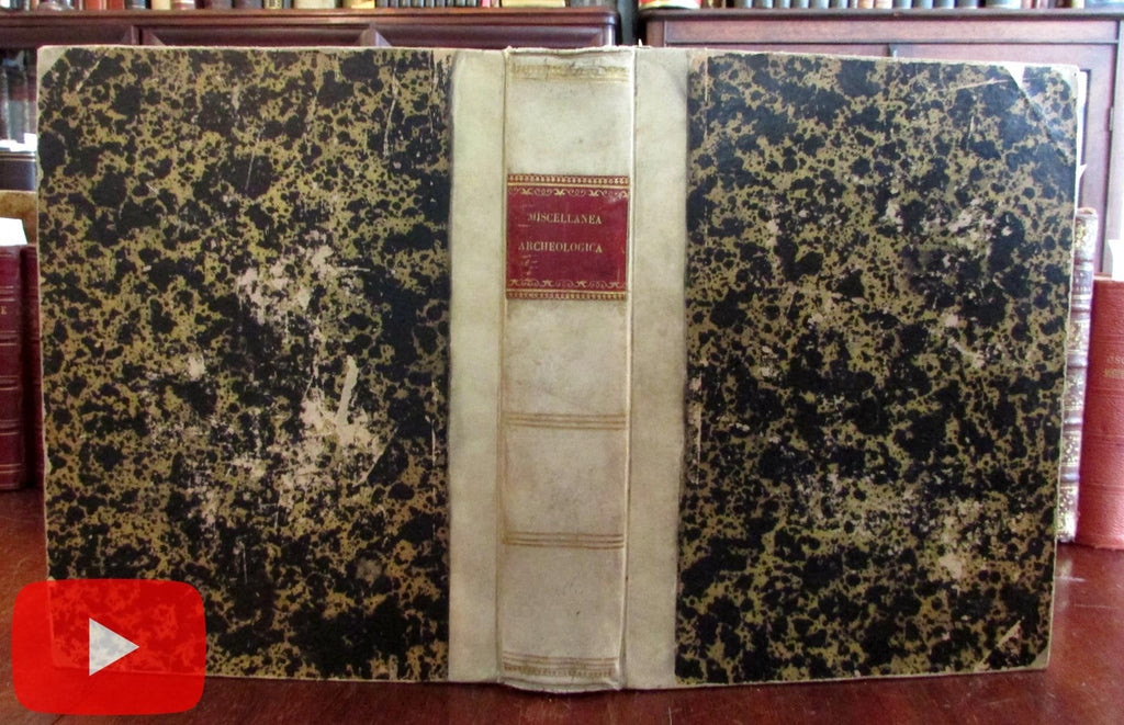 Archaeology Ancient Roman History 1850-75 collection 9 pamphlets vellum book