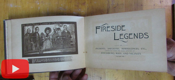 Fitchburg Massachusetts 1890 Fireside Legends History endless advertising book