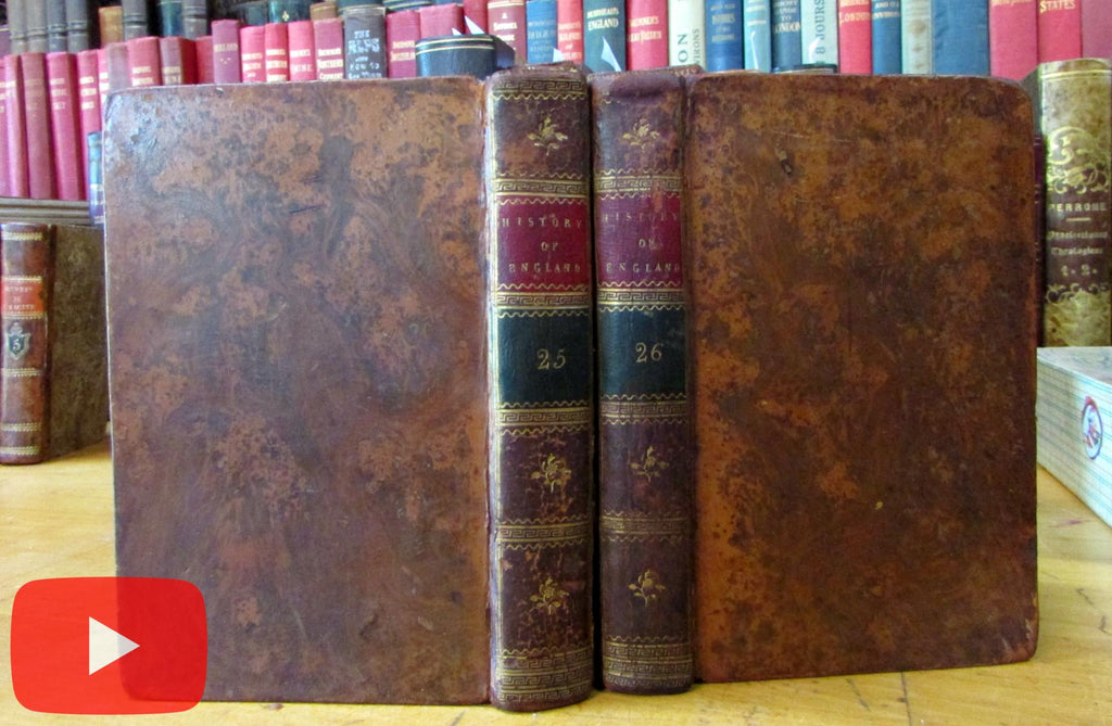 History of England From 1783 Peace to 1795 Lloyd miniature 2 vol set books tree calf