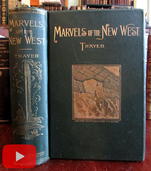 Western United States 1893 California West coast book w/ 375+ illustrations views