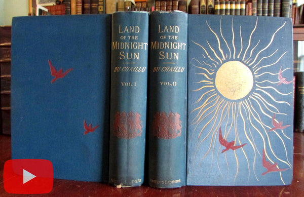 Scandinavia 1882 Land Midnight Sun du Chaillu 235 Illustrations splendid pictorial books