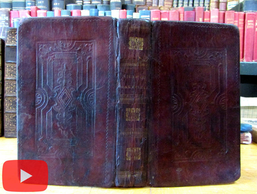 Embossed leather binding 1828-30 S. Andrus unrecorded Goldsmith Vicar Johnson Life