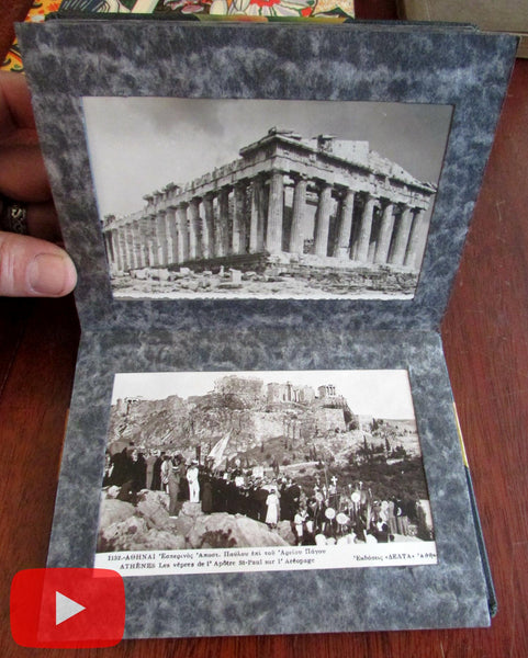 Athens Greece c.1950 real photo post card album collection by Lilian B. Adams