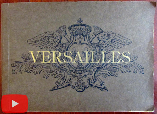 Versailles palace & Trianons Paris France c.1920 souvenir 48 hand color photos