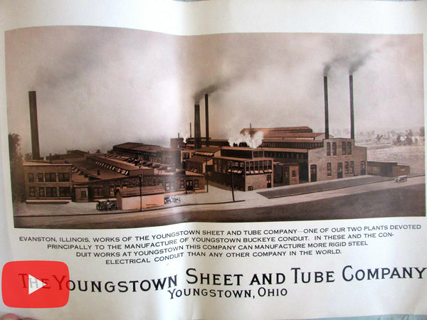 Youngstown Ohio Sheet & Tube Steel Co. 1928 Industrial photo study 12 images rare