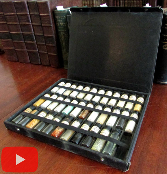Swift & Company Soap Department c.1930-50 sample case with 35 vials cosmetics