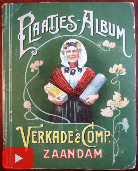 Verkade Dutch biscuits Album #1 complete 144 art nouveau cards Zaandam lovely
