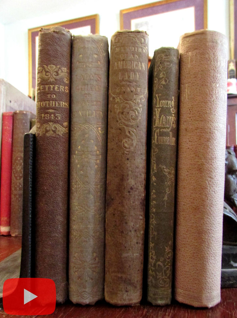 Social Conduct Self-improvement Manners in Women 1842-70 lot x 5 books advice