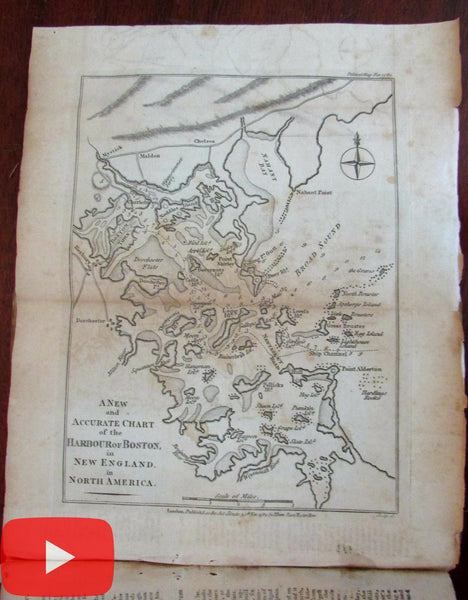 Boston Harbor chart 1782 political magazine map American Revolutionary War
