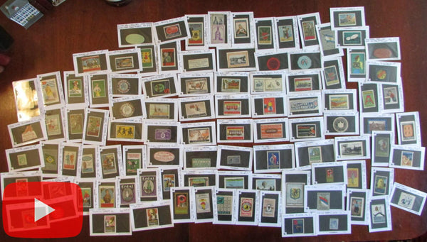 European Poster Stamps Advertising c.1900-20 colorful lot of 101 diff. stamps